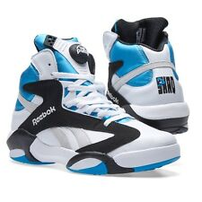 REEBOK SHAQ ATTAQ WHITE/BLACK/AZURE/STEEL BASKETBALL SHOES MEN'S SIZE 9