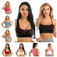 Women Gym Bra Crop Top Camisole Vest Racerback Tank Top Blouse Shirts Bralette