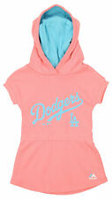 Majestic MLB Girls Toddler Los Angeles Dodgers Hooded Celebrate Dress, Coral