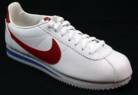MENS NIKE CLASSIC CORTEZ WHITE LEATHER SPORTS RUNNING FITNESS TRAINERS SIZE 8.5