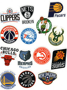 NBA Basketball Decal Sticker Licensed Team Logo Designs 🏀 Choose your team!