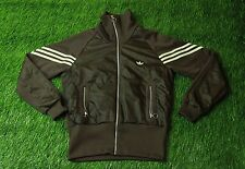 ADIDAS ORIGINAL BROWN CLASSIC WOMENS TRACK TOP JACKET SIZE 14