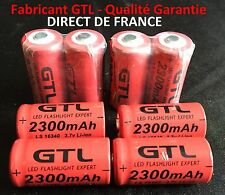8 Piles Accus Rechargeables CR123A 16340 3.7V 2300Mah GTL Li-ion Batteries - HOT