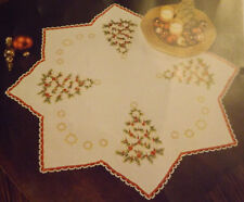"""Craftways O'Tannenbaum Holiday Table Topper #21-331 Embroidery Kit 29.5"""" X 29.5"""""""