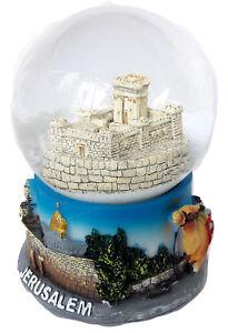 "Snowdome israel Templ of Jerusalem Snowglobe ""Second Temple"" holyland 93mm"