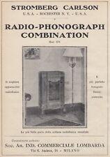 Z5071 Radio-Phonograph Combination Mod. 654 - Stromberg Carlson - 1930 old ad