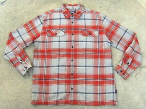 Patagonia Organic cotton Heavy flannel Shirt Men's XL Dark brown