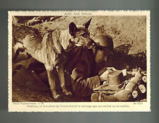 Mint WW 2 France Army Messenger Dog with Soldier real picture Postcard RPPC
