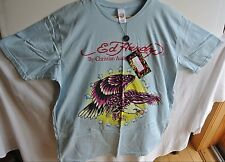 ED HARDY Men's 2X XXL T Shirt NWT New w/ Tag Diving Eagle Light Blue