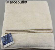 "Matouk Milagro Bel Tempo Bath Towel 30"" X 60"" Ivory / Champagne"