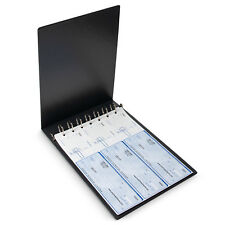Executive Grey 7 Ring Check Binder, 500 Check Capacity, for 9x13 Inch Sheets NEW