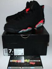 Air Jordan Retro 6 VI Infrared Black Red Sneakers Boy's Size 7 Brand New