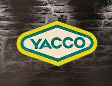 Enseigne Plaque Décorative Garage Huile YACCO (50 cm x 29 cm)