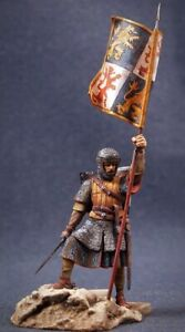 Tin toy soldier 54 mm Superb Elite painting in St.Petersburg.Knight