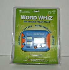 Word Whiz Electronic Flash Cards 3 Skill Levels Learning Resources Ler 6964-New