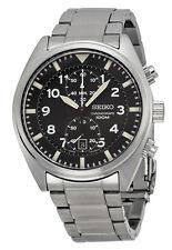 Seiko SNN231 Men's Stainless Steel Black Dial Chronograph Sports Watch