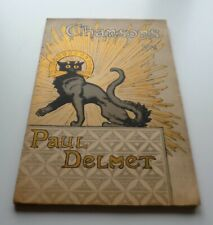 CHANSONS de Paul Delmet illustré de Lithographies de Willette bel couverture