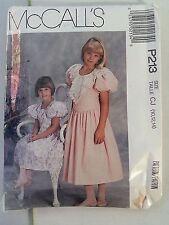 Child Girls Anniversary Dress Size 10 12 14 1990 McCalls P213