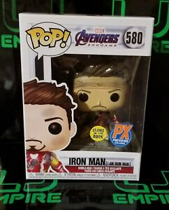 New Funko Pop Px Preview Exclusive : Iron Man (I Am Iron Man) #580  + Protector