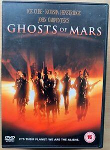 Ghosts Of Mars DVD 2001 John Carpenter Cult Sci-Fi Horror Film Movie w/ Ice Cube