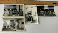 Lot of 4 Original WWII Photos USAAF Pilots Aircrew Uniform Aircraft Personnel