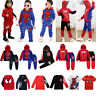 Spider-Man Kids Boy Tracksuit Set Hoodie Sweatshirt Pants Sweatpants Outfit Set