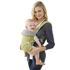 Baby Infant Safety Ergo Carrier 360 Four Position Breathable Lap Strap green