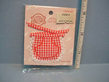 Dollhouse Miniature Red Checkered Apron #A2628RD Falcon 1/12th Scale