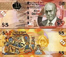 BAHAMAS - 5 Dollars 2007 FDS - UNC