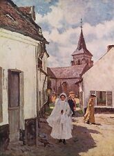 JAMES CHARLES 1881 Oil Painting RETURNING FROM 1ST COMMUNION 1930 Art Book Print