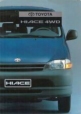 Toyota Hiace 4WD D-Turbo 1996-97 Norwegian Market Foldout Sales Brochure
