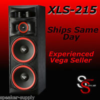"New Cerwin Vega XLS-215 Floor Tower Speaker Dual 15"" 3-Way Free Shipping"