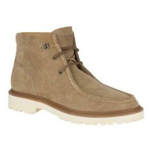 Sperry Mens Top Sider Gold Windsor Lug Chukka Boots in Taupe Suede Sz 11.5 NEW