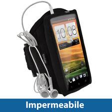 Nero Fascia Braccio Armband per HTC One X + Plus S720e Sport Corsa Fitness Uno 1