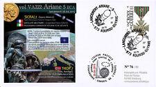 "VA222L-T2 FDC KOUROU ""ARIANE 5 Rocket Flight 222 / Sat. SICRAL 2 & THOR 7"" 2015"