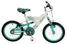 "Townsend Tiger Girls 16"" MTB Full Suspension Mountain Bike - MINT Green & White"