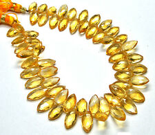 PH-069 Citrine Genuine Marquise Faceted GemBeads 6x11mm-6.5x14.5mm 108Ct 8.5""