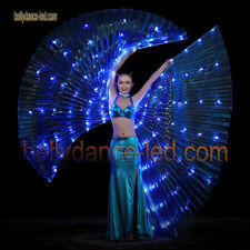 USA! Led isis wings rechargeable belly dance dancer show super bright light blue