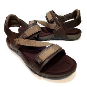 MERRELL Terrant Dark Earth Brown Tan Strap Sandals (J91517) - Mens Size 13