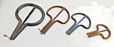 VINTAGE OLD HAND-MADE IRON MOUTH JEW'S HARP LOT 4 PIECES RARE MUSICAL INSTRUMENT