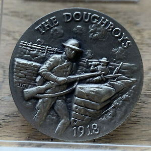 1918 .925 Silver Longines Medal Coin The Doughboys #620