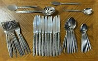 Coventry BOUQUET Stainless Silverware Forks Spoons Teaspoons Knives Lot of 38