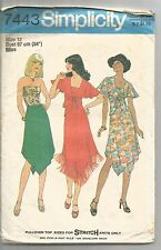 Simplicity Sewing Pattern 7443, Vintage 1970's Tops, Skirts, Size 12