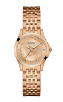 Bulova Women's Quartz Diamond Markers Rose Gold Tone 27mm Watch 97P112