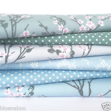 Blossom 6 fat quarter fabric bundle 100 % cotton poplin for sewing/ patchwork