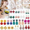 Fashion Womens Boho Flower Drop Dangle Earrings Ear Stud Charm Jewellery Gift