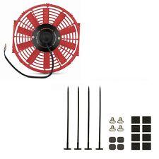 """Mishimoto Universal Red 12"""" Slim Electric Radiator Cooling Fan & Mounting Kit"""