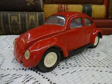 Vintage TONKA Red Volkswagen Bug Beetle VW ~ Pressed Steel Toy Car 52680