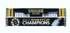 1 Reebok Boston Bruins 2011 Stanley Cup Champions 2 Sided Long Winter Scarve NWT