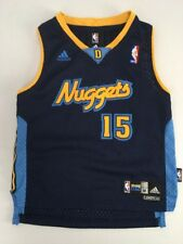 492355fc2 ADIDAS Denver Nuggets NBA Basketball THROWBACK  15 ANTHONY Jersey YOUTH Sz M